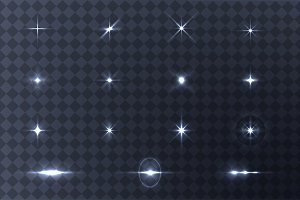Collection of vector light effects.
