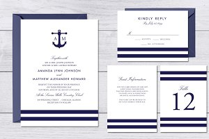Nautical Navy Wedding Suite