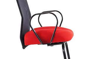 Red office chair isolated