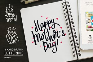 Mother's day – 8 hand drawn quotes