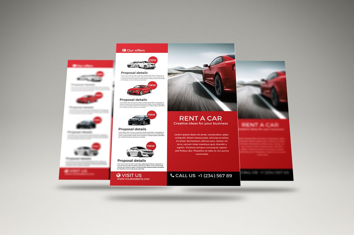 rent a car flyer flyer templates creative market