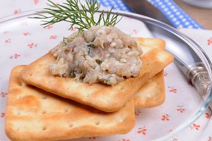 Appetizer   of pate herring