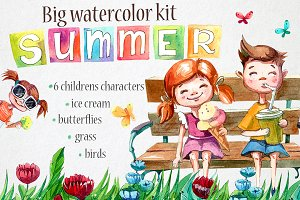 Summer watercolor kit