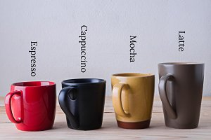 many type of coffee cup