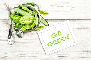 Green salad. Food background