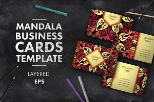 Mandala business card 008