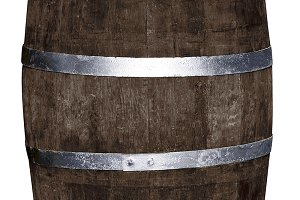 Wine barrel in withe