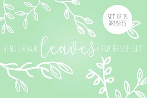 Rustic Olive Leaf & Branch Brushes