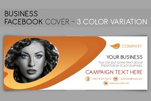 Facebook Cover - 3 color variation
