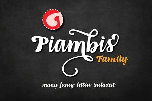 Piambis Family | three fonts incl.