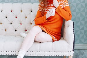 woman in warm sweater