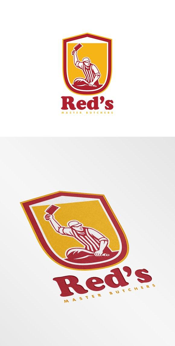 Red's Master Butcher Retro Logo