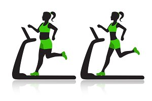 woman on a treadmill resets