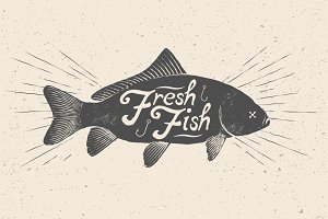 Fresh Fish. Vector Illustration