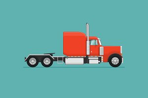 Semi Truck. Vector Illustration