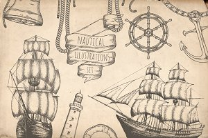 Nautical illustrations set Vol.2