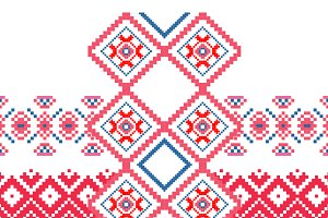 Geometric ornament  embroidery