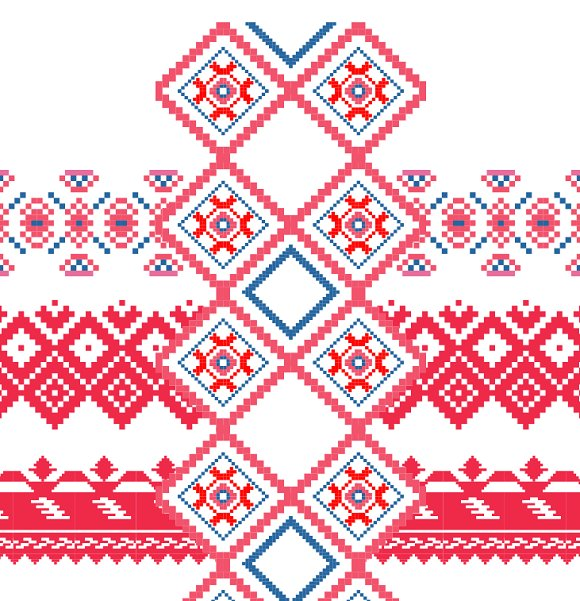 Geometric ornament embroidery patterns creative market