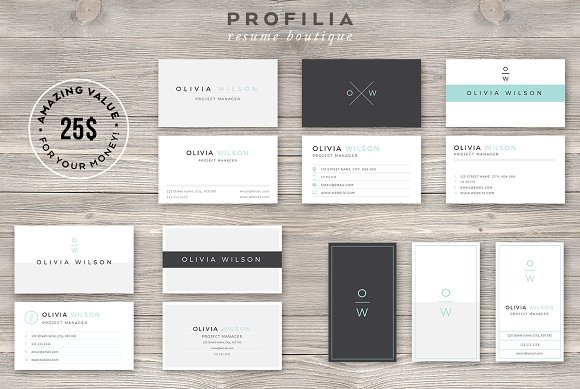 Bundle Modern Business Card Template Cards