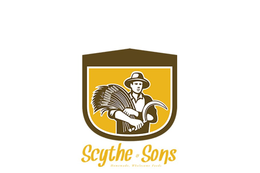 Scythe and Sons Homemade Wholesome F in Logo Templates - product preview 8