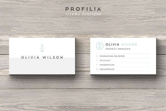 BUNDLEModern Business Card Template Business Card Templates - Template for business card