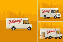 Delivery Truck. Vector Illustrations