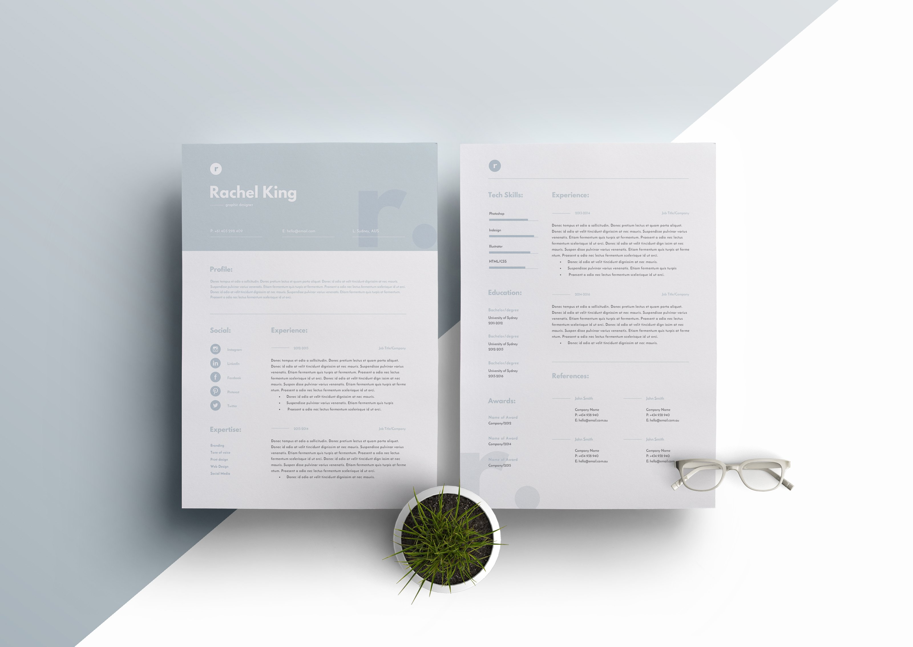 the template depot creative market resume template 3 page cv template