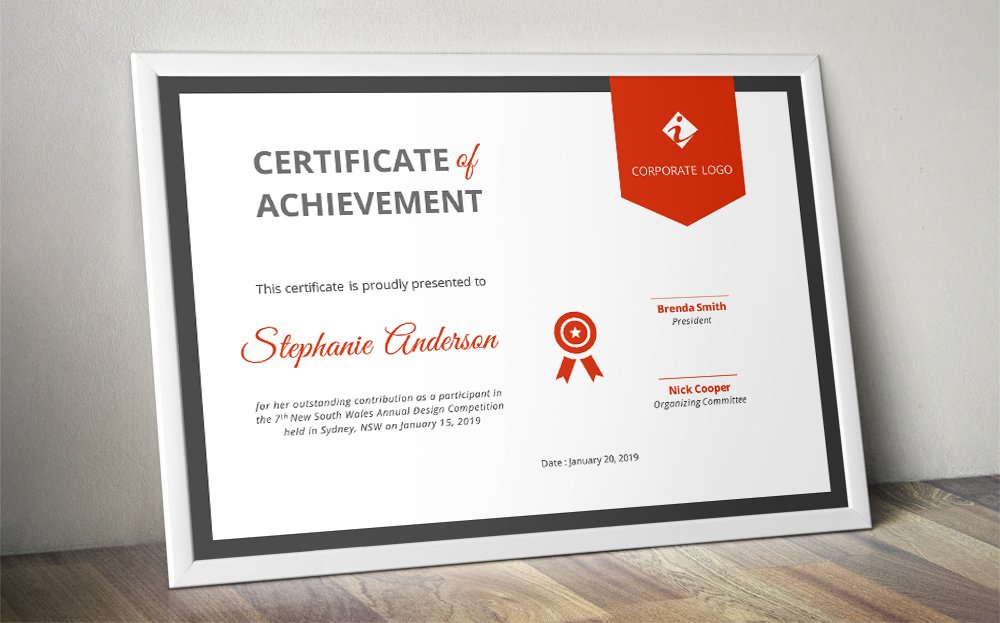 Ribbon certificate template (docx) ~ Stationery Templates ...