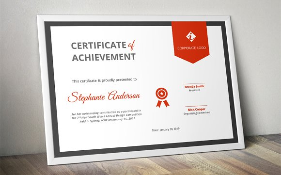 Ribbon Certificate Template Docx Stationery Templates Creative