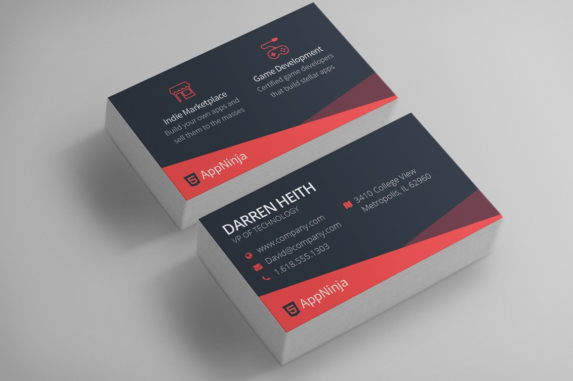 Sleek business card template business card templates creative market flashek Image collections
