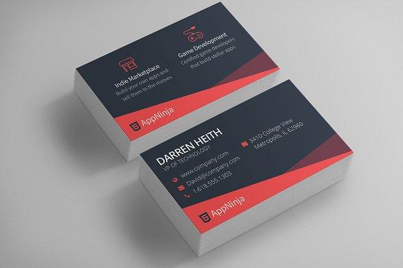 sleek business card template business card templates creative market