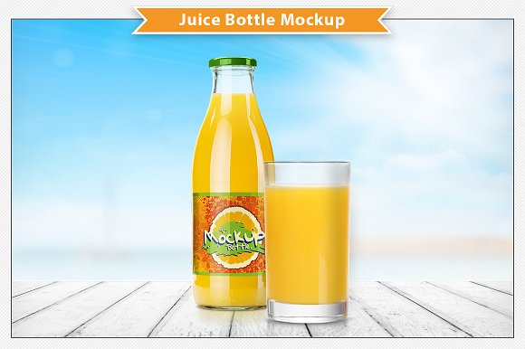 juice bottle mockup product mockups creative market