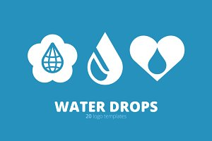 Water Drops. 20 Logo Templates.