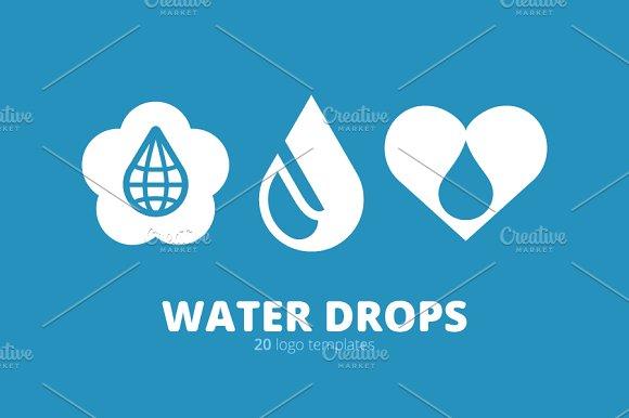 Water Drops. 20 Logo Templates. - Templates
