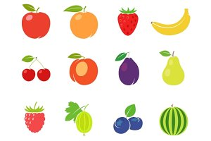 Fruits retro illustration