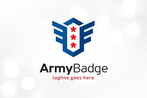 Army Badge Logo Template