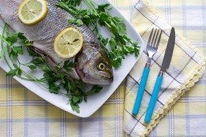 fish on dish