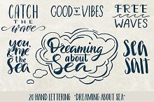 Lettering. Sea Overlays & Icons