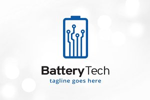 Battery Tech Logo Template