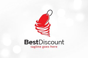 Best Discount Logo Template
