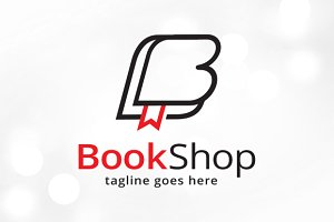 Book Letter B Logo Template