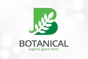 Botanical Letter B Logo Template