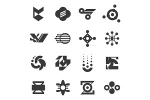 16 Abstract Icons. Sound & Music