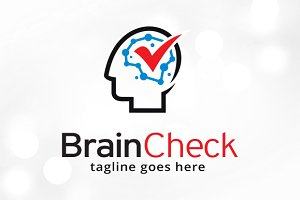 Brain Check Logo Template