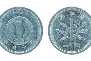 1 japanese yen coin