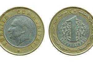 turkish one lira coins