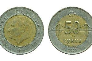 turkish fifty kurus coins