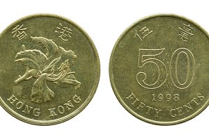 hong kong fifty cent coins