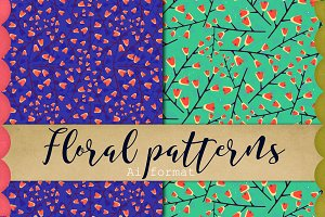Season Floral patterns vector