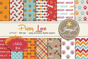 Dog Digital paper /Pet Digital Paper